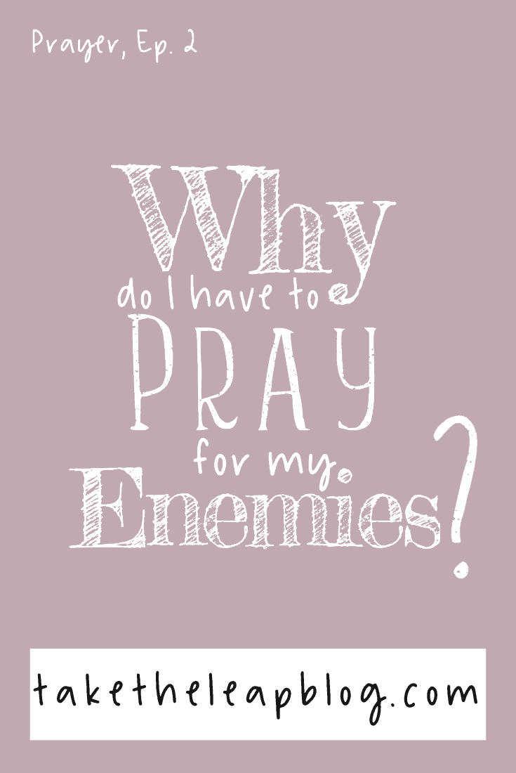 Pray for your Enemies: Why? - Take the Leap Blog